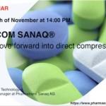 Pharmatrans hosts webinar on new DiCOM SANAQ® direct compression platform