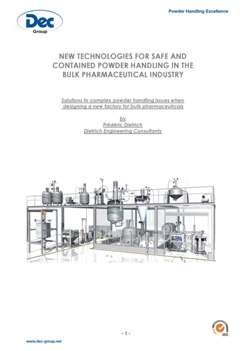 New technologies for safe and contained powder handling in the bulk pharmaceutical industry