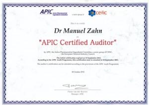 Manuel Zahn - APIC Certificate