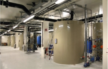 Envochem physico-chemical process water recycling plant installed at plastic processing company in Linz, Austria