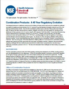 Combination Products - A 40 Year Regulatory Evolution