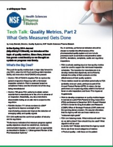 Quality Metrics - What Gets Measured, Gets Done