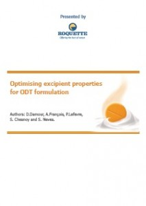 Optimising excipient properties for ODT formulation
