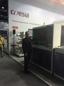 Jean-Luc Devenoge with new Hapa 862 printing system