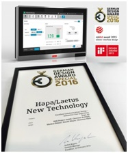 Hapa's HMI was recognized for its simple and clear design and modularity