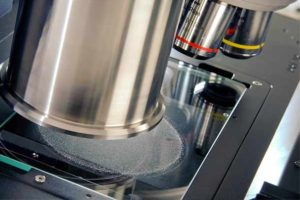 Morphologi G3 dry powder disperser dispenses a dry powder sample onto a glass slide