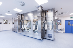 Isolator technology is at the heart of the innovative robotic filling lines installed at AqVida's new Dassow production facility