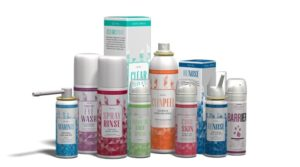 Many Aurena ENT products are based on its unique mastery of saline and seawater-based solutions.