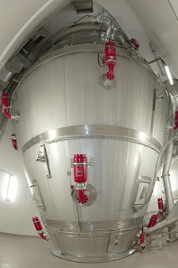 Modern spray dryer with external fluid bed dryer qualified according to current GMP guidelines