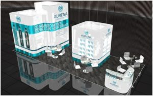 Aurena Laboratories stand at CPhI worldwide