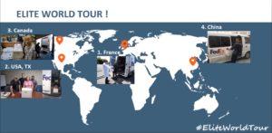 Cool chain saga: Elite's journey westward around the world