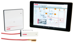 Rotronic Legionella HVAC starter kit contains all components needed to monitor water temperature in system