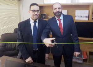 Ahmed Rassam (left) and Dr. Jörg Krause open the new EnviroChemie Maghreb S.A.R.L. business premises in Kenitra, Morocco.