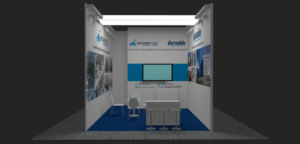 Design for Pharmadule-Morimatsu stand at ACHEMA 2018