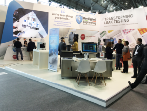 Overview of the Bonfiglioli Engineering stand at Achema
