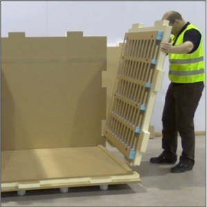 The new Sofrigam XXL Pallet Shipper slots together from flat pack in minutes