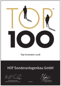 HOF's Top 100 Innovator Award