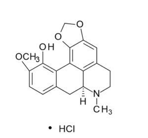 Bulbocapnine hydrochloride has the molecular formula of C19H20ClNO4