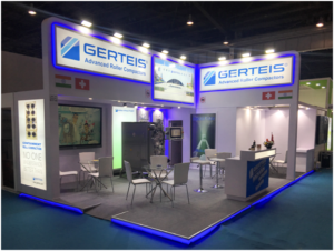 Gerteis Mini-Pactor at center of Gerteis stand at P-MEC India