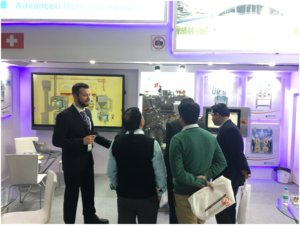 Gerteis welcomes visitors to its P-MEC stand at NOIDA, Delhi