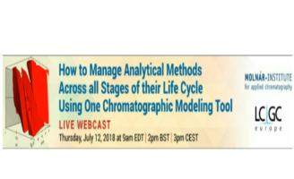 How to Manage Analytical Methods using One Chromatographic Modeling Tool