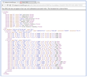 Interrogating Met Office data requires familiarity with json