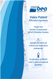 Valex Potent is Bea Technologies' latest filtration solution for Highly Potent Active Pharmaceutical Ingredient applications