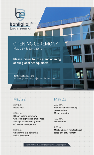 Formal invitation to two-day opening ceremony