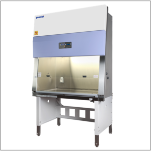 PHCbi MHE-N300A2-PE BSC Class II, Type A2 Biological Safety Cabinet uses advanced laminar airflow,  cabinet design and filtration systems to protect laboratory environments from biological particulates