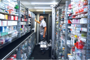 Rosengarten Pharmacy uses Rotronic RMS loggers and data reporting to assure correct storage temperatures in all key areas, including storage and picking points