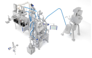 Aseptic Processing: Filter dryer discharge, micronization and dispensing isolator.