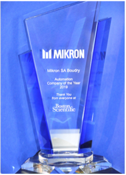 Boston Scientific names Mikron its Automation Supplier of the Year