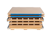 Flat pack Pallet Shippers are easier to move and store