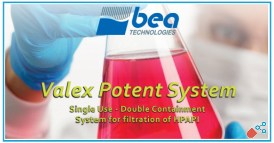 Single Use – Double Containment System for filtration of HPAPI
