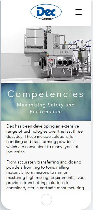 Dec Group handling and transforming powders