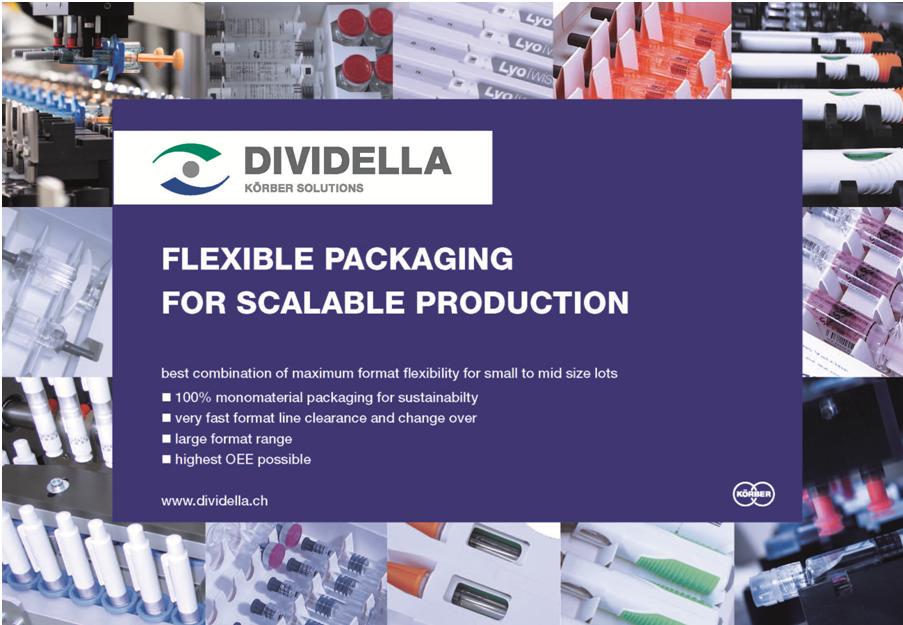 Dividella bringing advanced cartoning solutions to CPhI Worldwide, Frankfurt