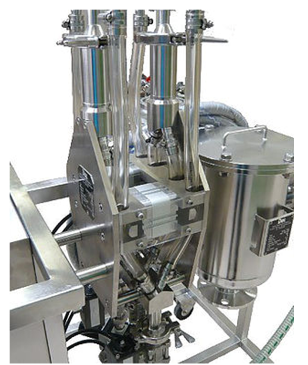 High containment integrated powder handling systems