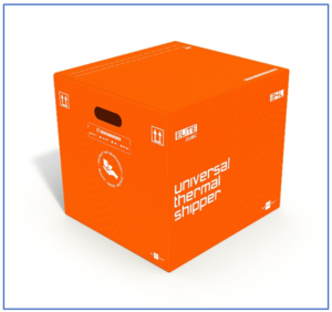 Sofrigam Elite Cubic parcel shipper: reusable packaging box offering long period temperature stability