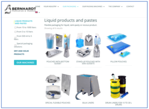 Website allows direct access to Bernhardt's wide range of packaging solutions