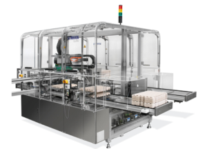 Mikron EcoPal™ tray handler is ideally suited to feeding in fragile medical device components