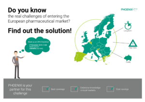PHOENIX group is inviting European Pharma professionals to face-to-face meetings at CPhI Worldwide 2019