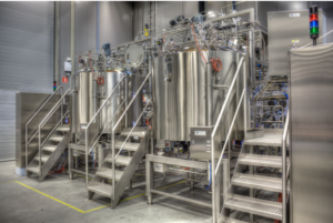 Applikon stainless steel bioreactors feature open frame modular designs for easy maintenance, cleaning and operation