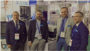 Bonfiglioli team at P-Mec India (left to right): Area Sales Manager Martin Farrugia, Technical Sales Manager Gianmarco Pincelli,; Managing Director Andrea Cavanna and  R&D Manager Davide Formenti.