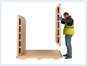 Initial Pallet Shipper can be erected by single person in a few minutes