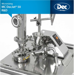 MC DecJet® 50 is designed for easy operation and cleaning in the laboratory