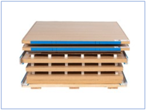 Sofrigam Initial Pallet Shipper can be flat packed for enhanced Reverse Logistics