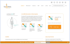 New TAmiRNA site offers direct product purchasing online