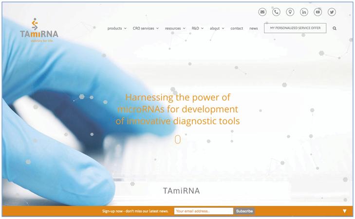 Re-engineered TAmiRNA website goes live