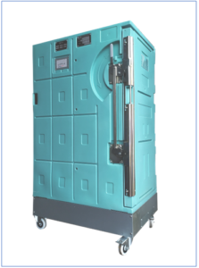 Sofrigam's new active refrigerated roll Coldway Inside Technology durable cold chain container