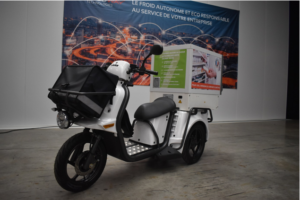 Coldway Technologies' temperature-controlled cabinets can be  can be adapted to any vehicle, including electric trikes